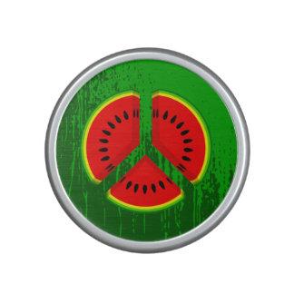 Fun Watermelon Peace Bright Colours Speaker