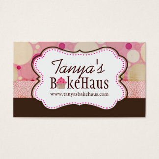 Fun Whimsical Cupcake Business Cards