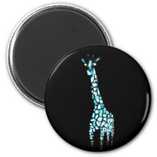 Fun Wild Animal Abstract Giraffe Art 6 Cm Round Magnet