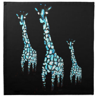 Fun Wild Animal Abstract Giraffe Napkin