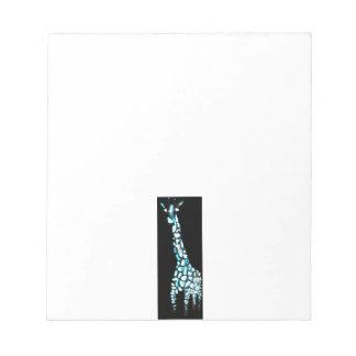 Fun Wild Animal Abstract Giraffe Notepad