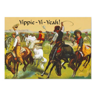 Fun Wild West Yippie Yi Yeah Party Invitation