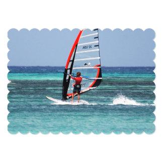 Fun Windsurfing 13 Cm X 18 Cm Invitation Card