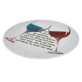 Fun Wine Saying Cutting Board