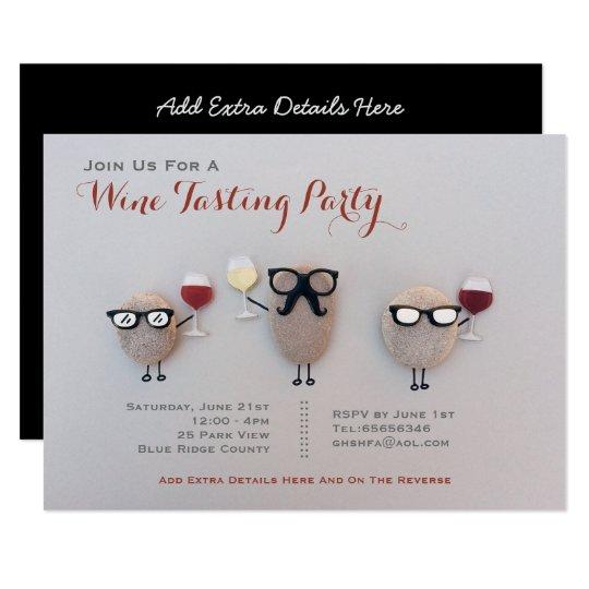 Fun Wine Tasting Party Invitations Rock Customised