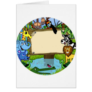 Fun with animals card