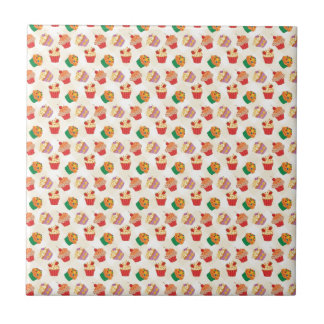 Fun with cupcakes!! small square tile