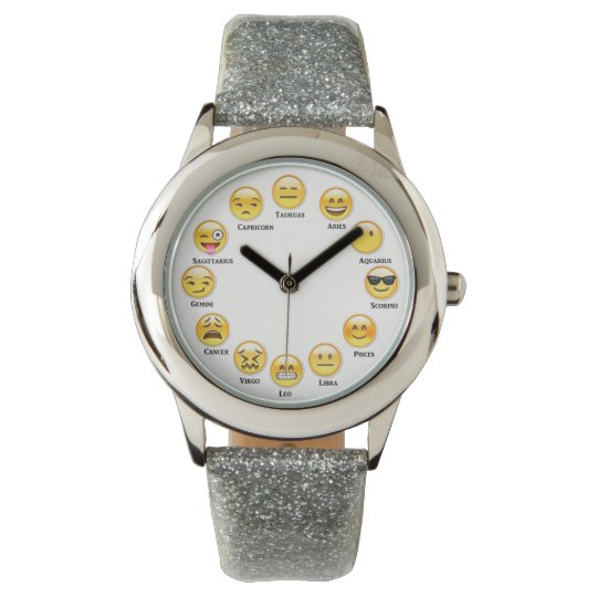fun with emoji zodiac wrist watch