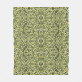 Fun with lime green fleece blanket