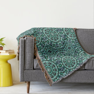 Fun with Teal and black Throw Blanket