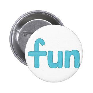 Fun word in aqua buttons