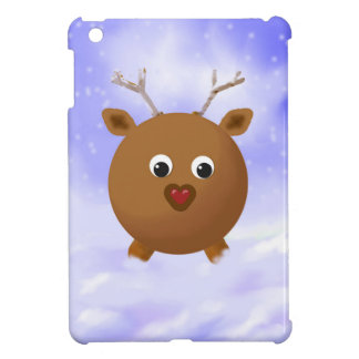 Fun Xmas Reindeer with Red Nose in the Snow iPad Mini Cover