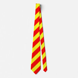 Fun Yellow and Orange Stripes Neck Tie