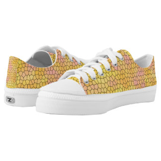 Fun Yellow Mosaic Design Shoes