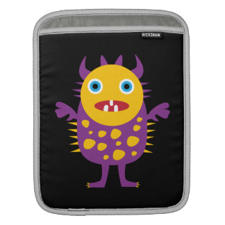 Fun Yellow Purple Monster Creature Gifts for Kids iPad Sleeve