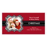 Fun Zebra Frame Christmas Photo Card.