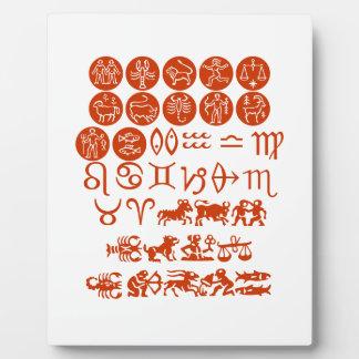 FUN  ZODIAC Symbols Plaques