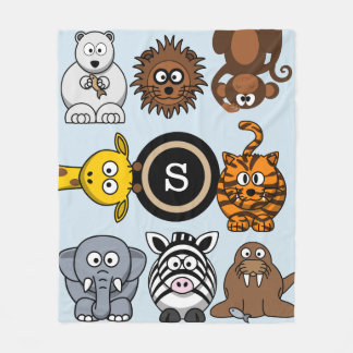 Fun Zoo Animals Fleece Blanket