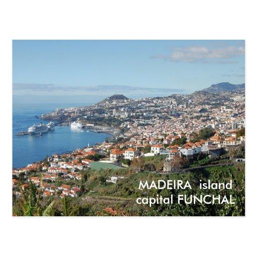 Funchal view, Madeira island Postcard