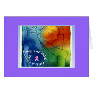 Fund the Fight Find a Cure Note Card