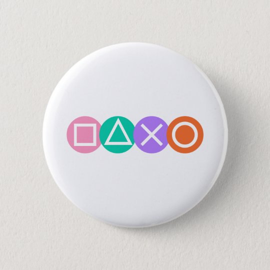 Fundamental Game Symbols 6 Cm Round Badge
