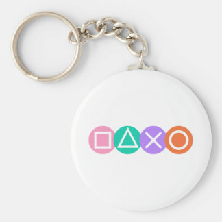 Fundamental Game Symbols Key Chain