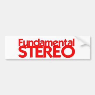 Fundamental Stereo Bumper Sticker Car Bumper Sticker