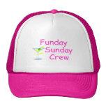 Funday Sunday Crew Pink Cap