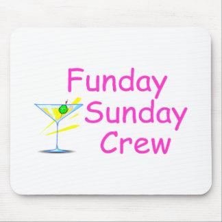 Funday Sunday Crew Pink Mousepads