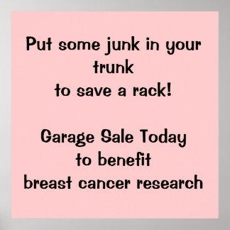 Fundraising Garage Sale Poster