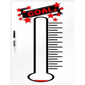 Fundraising Goal Thermometer BLANK Goal Dry Erase Boards