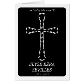 funeral announcement : elegant cross