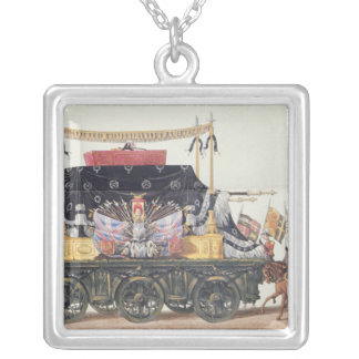 Funeral Car of the Duke of Wellington, 1853 Silver Plated Necklace