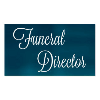 Funeral Director Brushed Business Card