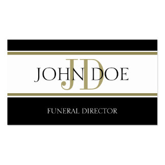 Funeral Director Gold Stripes Business Cards