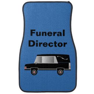 Funeral Director Hearse Car Mats Blue