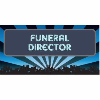 Funeral Director Marquee Cut Out