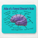 Funeral Director/Mortician Funny Brain Design Mousepad