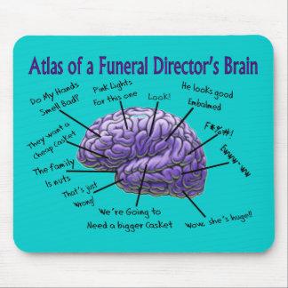 Funeral Director Mortician Funny Brain Design Mousepad