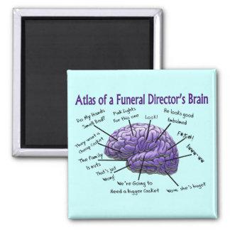 Funeral Director/Mortician Funny Brain Design Square Magnet