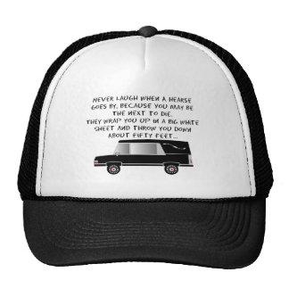 Funeral Director/Mortician Funny Hearse Design Mesh Hats