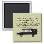 Funeral Director/Mortician Funny Hearse Design Refrigerator Magnets