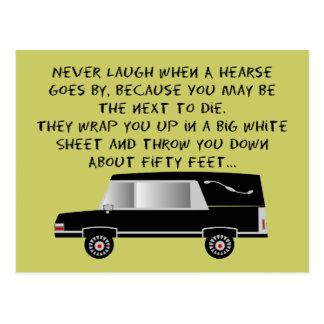 Funeral Director/Mortician Funny Hearse Design Postcard