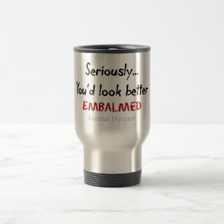 Funeral Director/Mortician Funny Hearse Design Stainless Steel Travel Mug