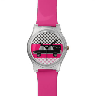 Funeral Director or Mortician Watch Hearse PINK