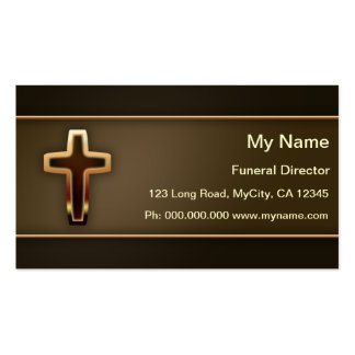 Funeral Director Pack Of Standard Business Cards