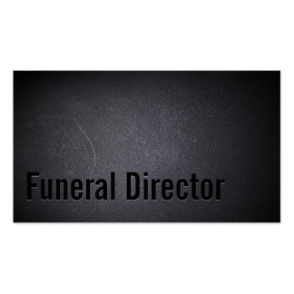 Funeral Director Professional Dark Pack Of Standard Business Cards