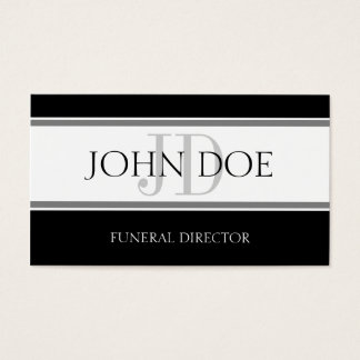 Funeral Director Stripe W/W Business Card