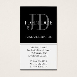Funeral Director Vertical White Business Card