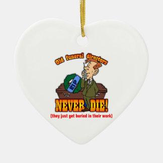 Funeral Directors Ceramic Heart Decoration